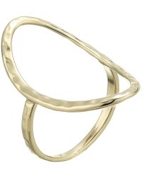 French Connection - Open Oval Ring - Lyst