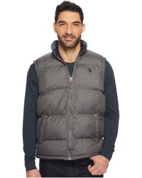 U.S. POLO ASSN. - Basic Puffer Vest With Small Pony Logo - Lyst