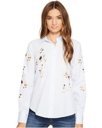 Blank NYC | Embroidered Shirt In In Bloom | Lyst