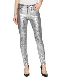 AG Jeans - Farrah Skinny Ankle In Iced Silver - Lyst