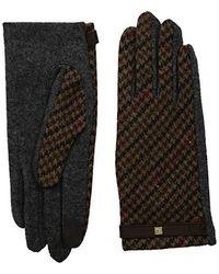 Lauren by Ralph Lauren - Houndstooth Plaid Touch Gloves (navy) Extreme Cold Weather Gloves - Lyst