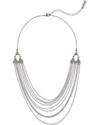 Steve Madden - Rolo Layered Casted Lobster Necklace - Lyst