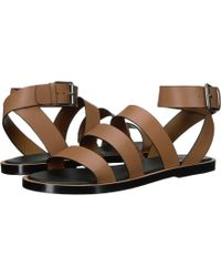 6520dc7988e1 Lyst - Vince Macey Leather Ankle-strap Sandals in Black