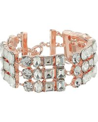 Guess - Three-row Stone Bracelet With Lobster Claw Closure - Lyst