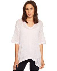 Nally & Millie - Oversize V-neck Lightweight Sweater Top - Lyst