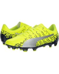 PUMA - 's Evopower Vigor 4 Graphic Ag Football Boots, Black-silver-fiery Coral - Lyst