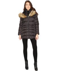 Betsey Johnson - Quilted Fur Hooded Coat - Lyst