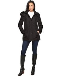 Jessica Simpson - Anorak Quilted Bonded W/ Hood And Faux Fur - Lyst