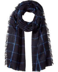 Lauren by Ralph Lauren - Windowpane Faux Mohair Blanket Wrap - Lyst