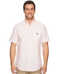 U.S. POLO ASSN. | Short Sleeve Classic Fit Fancy Shirt | Lyst