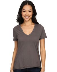 The Beginning Of - Olivia V-neck High-low Tee - Lyst