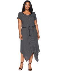 Lauren by Ralph Lauren - Plus Size Handkerchief-hem Short Sleeve Dress - Lyst