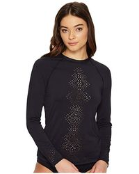 Seafolly - Spice Temple Long Sleeve Sunvest (black) Swimwear - Lyst
