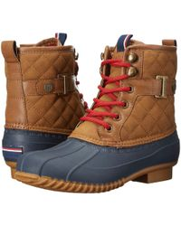 90552973738cbb Lyst - Tommy Hilfiger Ravel 2 Quilted Waterproof Winter Duck Boots