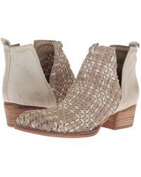 Lyst - Public Desire Orla Metallic Gold Heel Ankle Boots In Black ... 2a3554e5788