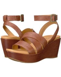 9bd31620fb70 Lyst - Kork-ease Kork-ease Keirn Suede Wedge Sandal in Brown
