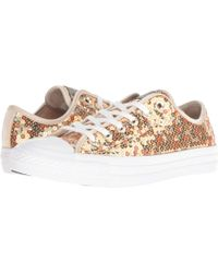 Converse - Chuck Taylor All Star Holiday Scene Sequin Trainers Gold - Lyst ce35086c6