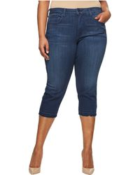 NYDJ - Plus Size Capris W/ Released Hem In Lark - Lyst