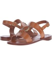 d54cae9b1b8 Lyst - Vince Camuto Averie Harness Wedge Sandal in Brown