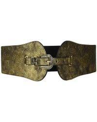 Steve Madden - Metallic Stretch Belt (gold) Belts - Lyst