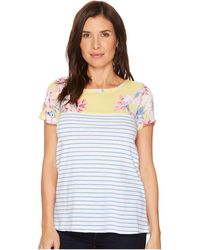 Joules - Suzy Jersey/woven Mix T-shirt - Lyst