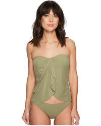 Vince Camuto - Riviera Solids Draped Bandini Top W/ Soft Cups & Removable Strap - Lyst