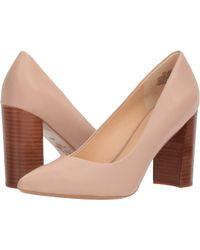 a9eb689ad8f0 Lyst - Nine West Astoria Block-heel Pumps in Natural