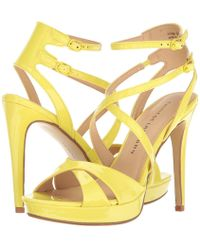 Lyst - Chinese Laundry Highlight Platform Dress Sandals in Yellow 095334b5be0a