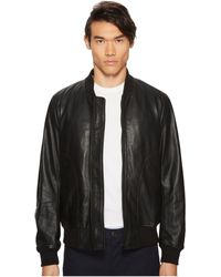 Paul Smith - Leather Bomber Jacket - Lyst