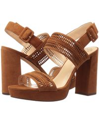 Vince Camuto - Jazelle Suede Cutout Detail Slingback Block Heel Dress Sandals - Lyst