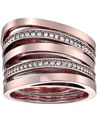 Michael Kors - Brilliance Stacked Pave Ring - Lyst
