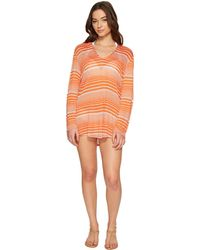 Splendid - Sun-sational Solids Hoodie Tunic Cover-up - Lyst