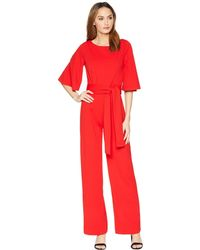 Alexia Admor - 3/4 Sleeve Boat Neck Jumpsuit - Lyst
