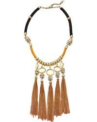 Lucky Brand - Silk Cord Statement Necklace - Lyst