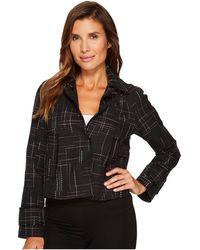 Ellen Tracy - Contrast Stitch Detail Tweed Jacket - Lyst
