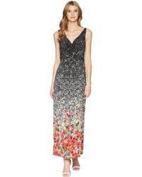 Chaps - Print Jersey Maxi Dress - Lyst