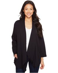 Mod-o-doc - Cotton Modal Spandex French Terry Open Front Cardigan - Lyst