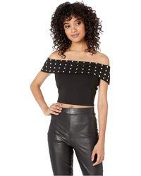 6d565cc8a0450c Lyst - Bebe Kristi Off Shoulder Top in Black