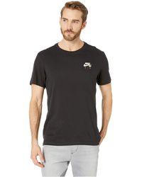8106abdfa2dd6e Lyst - Nike Nike Air Jordan Quai 54 Logo Tee in Black for Men