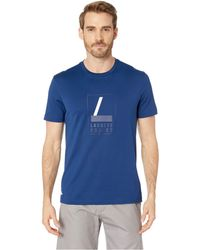 26442fbf5941 Lyst - Lacoste Short Sleeve Stripe Pima Jersey Interlock Regular in ...