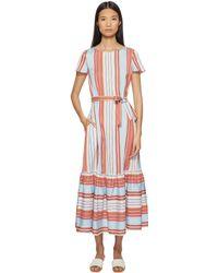 Paul Smith - Stripe Dress W/ Ruffle Trim - Lyst