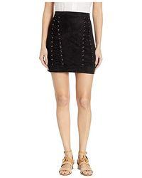 2a3dff9ea4 Bebe - Lace-up Mini Skirt (jet Black) Skirt - Lyst