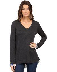 NYDJ - Key Item Mixed Media Sweater - Lyst