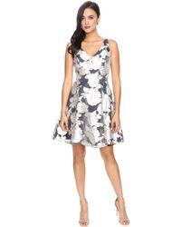 RSVP - Orlinda Metallic Burnout Dress - Lyst