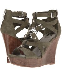 d6138e641e93 Lyst - G by Guess Women S Pretty Platform Wedge Sandals in Metallic