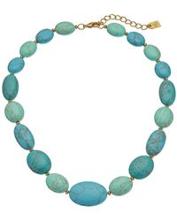 "Lauren by Ralph Lauren - Paradise Found 18"" Turquoise Nugget Bead Necklace - Lyst"
