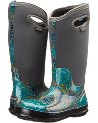 Gucci \'prato - Gg Blooms\' Rain Boot in Black | Lyst