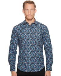 Bugatchi | Long Sleeve Shaped Fit Point Collar Shirt | Lyst