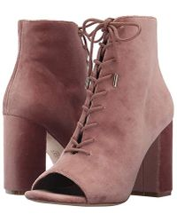 Joie - Lakia (light Mauve Velvet) Lace-up Boots - Lyst