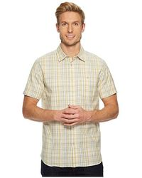 b3e38faf The North Face - Short Sleeve Baker Shirt (olivenite Yellow Plaid) Short  Sleeve Button